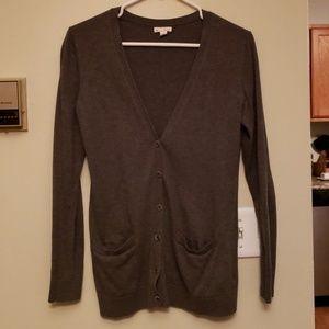 GAP medium gray women's button up cardigan